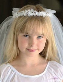 Delicate First Communion Headpiece Veil