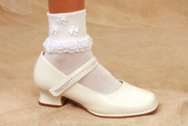 Irish Shamrocks First Communion Anklets