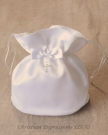 First Communion Purse with Rhinestone Cross