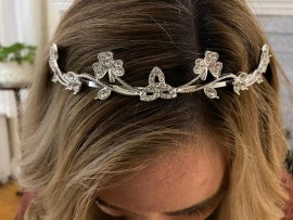 Irish Celtic Bridal Tiara with Shamrocks