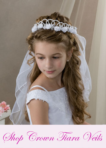 First Communion Crown Veils - First Communion Tiaras
